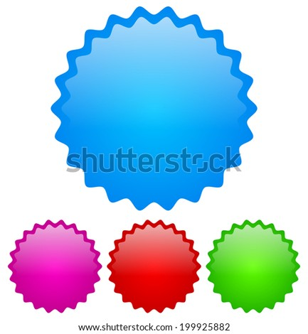 Colorful, bright badge templates - stock vector