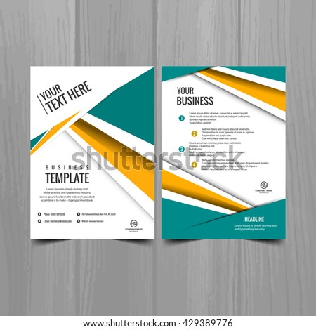Colorful bright business brochure