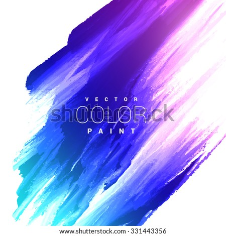 colorful bright ink stain vector design - stock vector