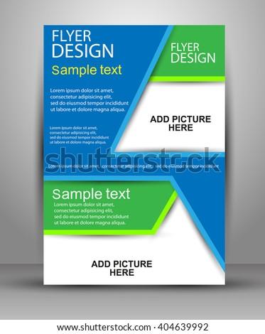 Colorful Brochure design. Flyer template for business, education, presentation, website, magazine cover.eps10 - stock vector