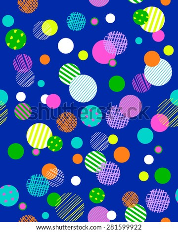 colorful bubble dots ~ seamless background - stock vector