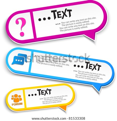 Colorful bubble for speech - stock vector