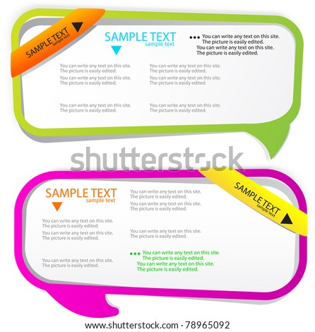 Colorful bubble for speech. Website elements - stock vector