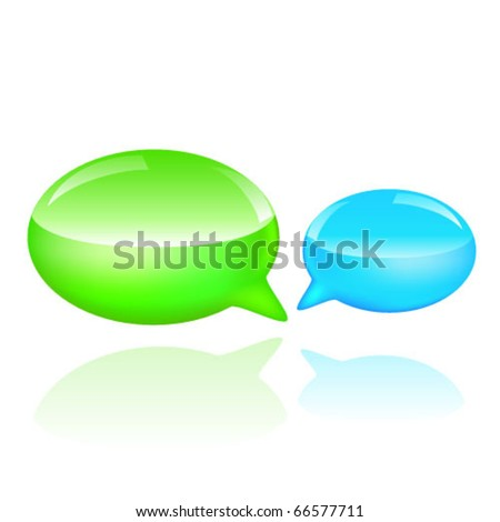 Colorful bubble speech - stock vector