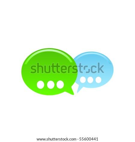 Colorful bubble speech. Vector - stock vector