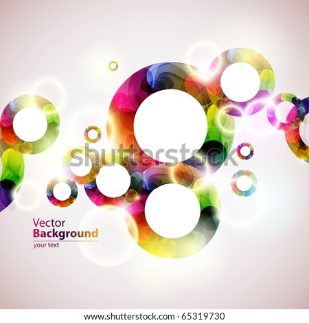 Colorful bubbles - stock vector