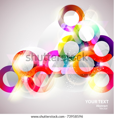 Colorful bubbles - stock vector