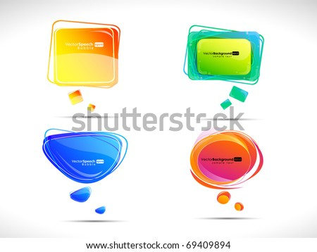 Colorful bubbles for speech