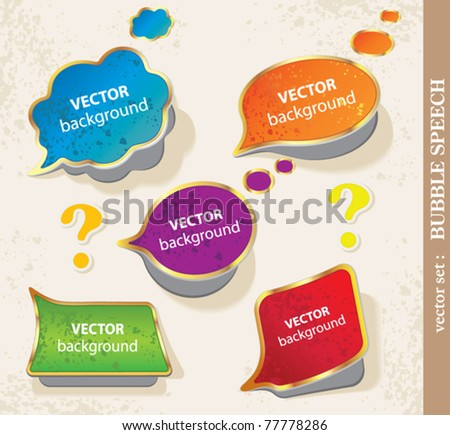 Colorful bubbles for speech. - stock vector