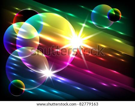 colorful bubbles, vector - stock vector