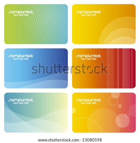 Colorful business cards Artistic abstract background textures - trendy business  templates with copy space Contemporary texture - stock vector