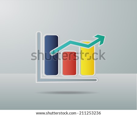 Colorful Business Chart graph - stock vector