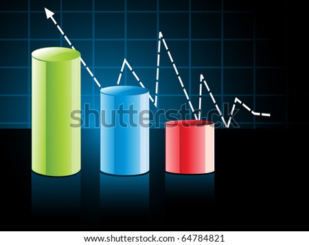 colorful business growth concept background, illustration - stock vector