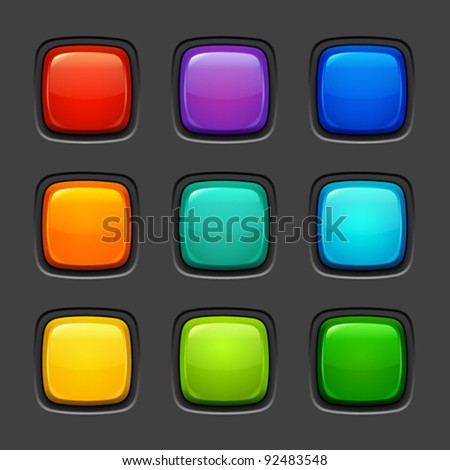 colorful buttons - stock vector