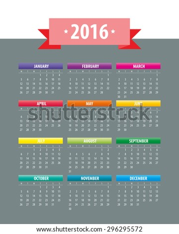 2018 Islamic Hijri Calendar Template Design Version 4 Stock