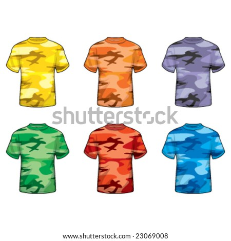 Colorful Camouflage Shirts