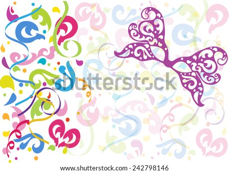 Colorful Carnival Background.