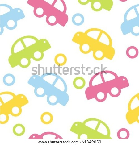 colorful cars - stock vector