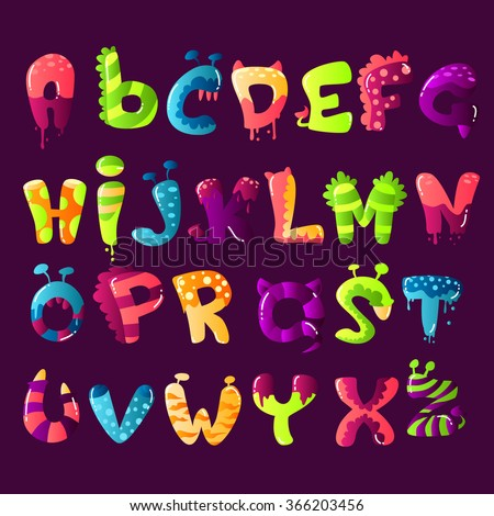 Colorful Cartoon Font
