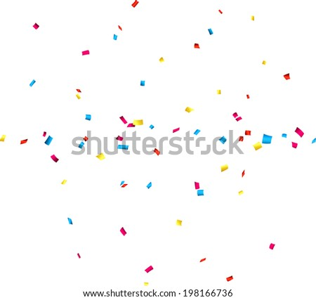 Colorful celebration background with confetti. Vector Illustration. - stock vector