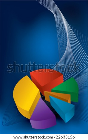 Colorful chart on blue background