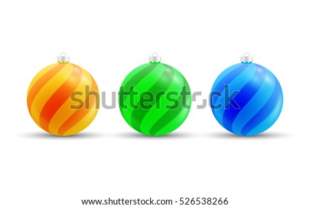 colorful christmas baubles. xmas vector balls
