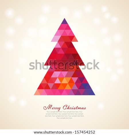 Colorful christmas tree - stock vector
