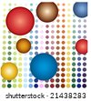 colorful circle background - stock vector