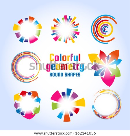 Colorful circle elements. Vector eps10 - stock vector