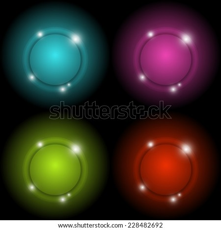 Colorful circle glow vector abstract background, stock vector - stock vector