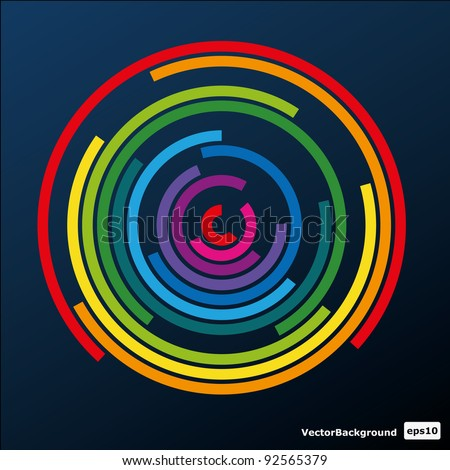 Colorful Circle Vector Background - stock vector
