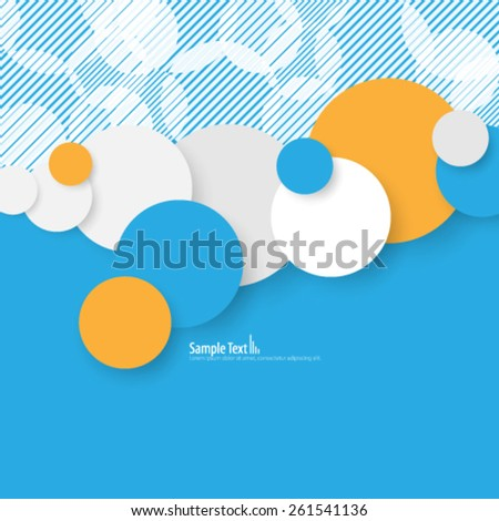 Colorful Circles Design Background - stock vector