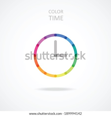colorful clock - stock vector
