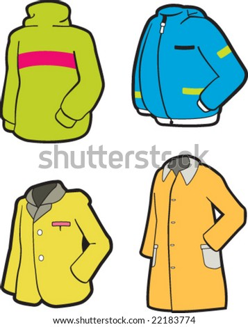 Colorful clothes - stock vector