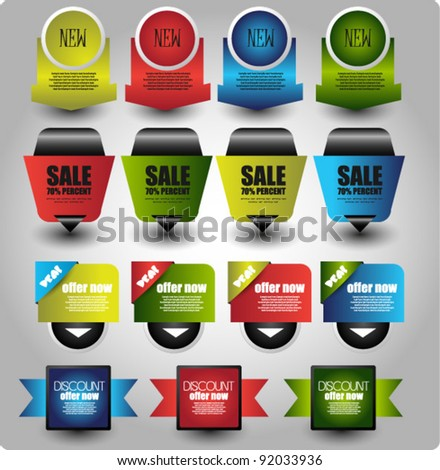colorful collection of web elements - stock vector