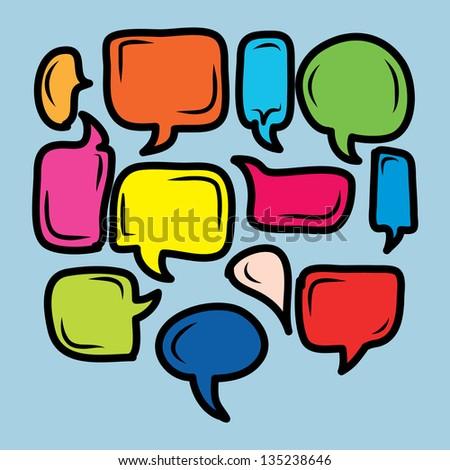 colorful comical bubble talk.EPS10 - stock vector
