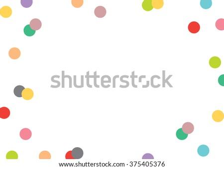 Colorful Confetti Background 5 x 7 - stock vector