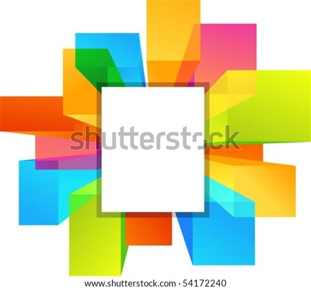 Colorful copyspace rectangular shapes - stock vector