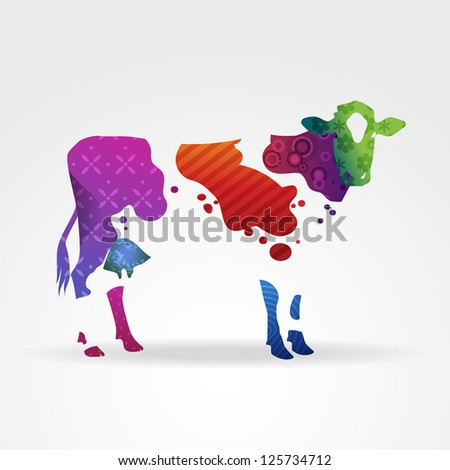 Colorful Cows Recipe — Dishmaps