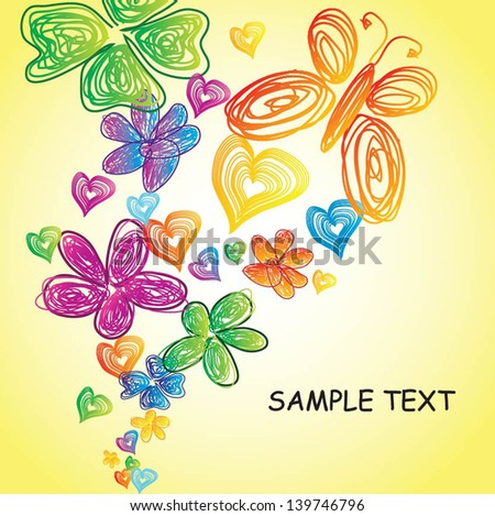 Colorful Crayon background - stock vector