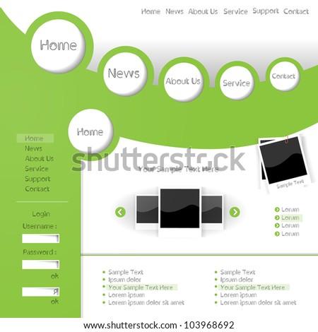 Colorful creative modern abstract editable vector web design gallery - stock vector