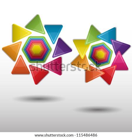 Colorful  creative modern abstract vector symbol - stock vector