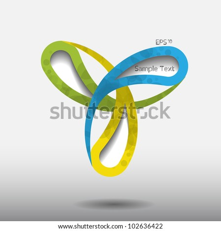 Colorful creative modern vector web design with circle pattern - stock vector