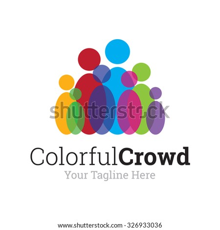 Colorful Crowd Logo