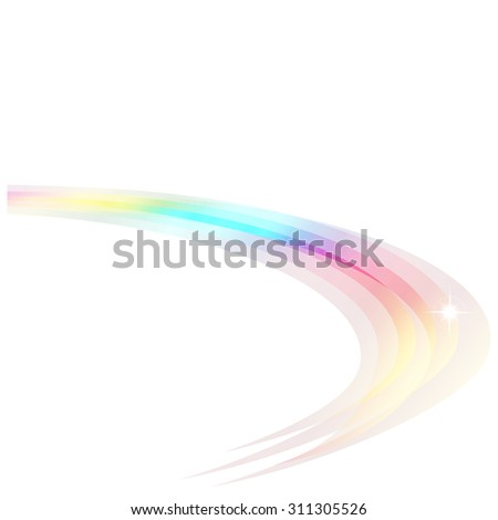 Colorful Crystal Rainbow Curve for abstract background - stock vector