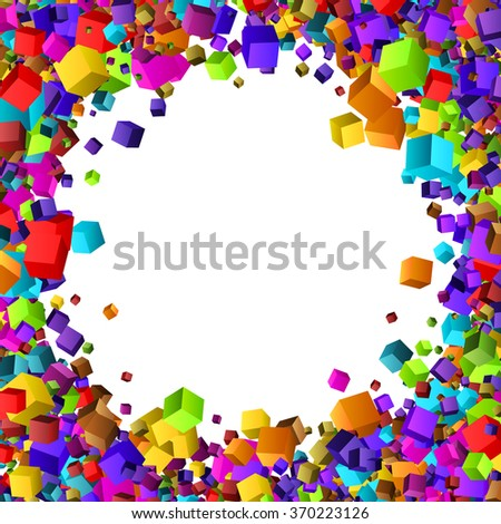 Colorful cubes composition.Background template. - stock vector