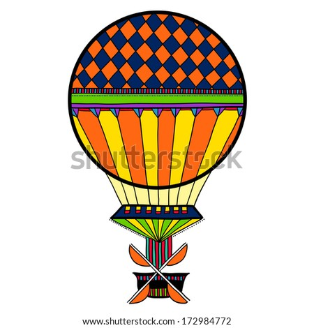 Colorful cute balloon, aerostat.