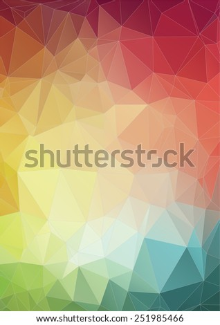 Colorful 2D geometric abstract background - Illustration for web - stock vector