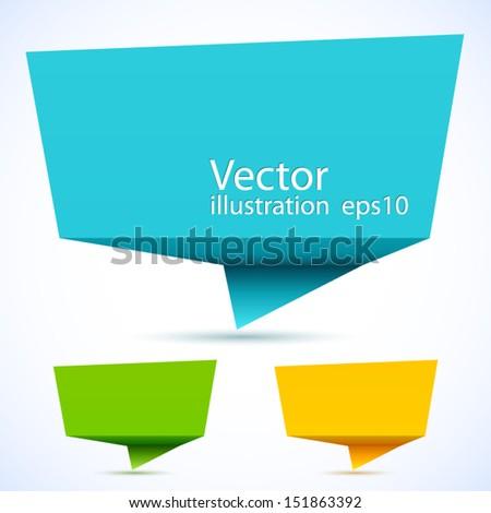 Colorful 3d speech bubbles.  - stock vector