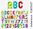 Colorful Decorative Alphabet - stock photo